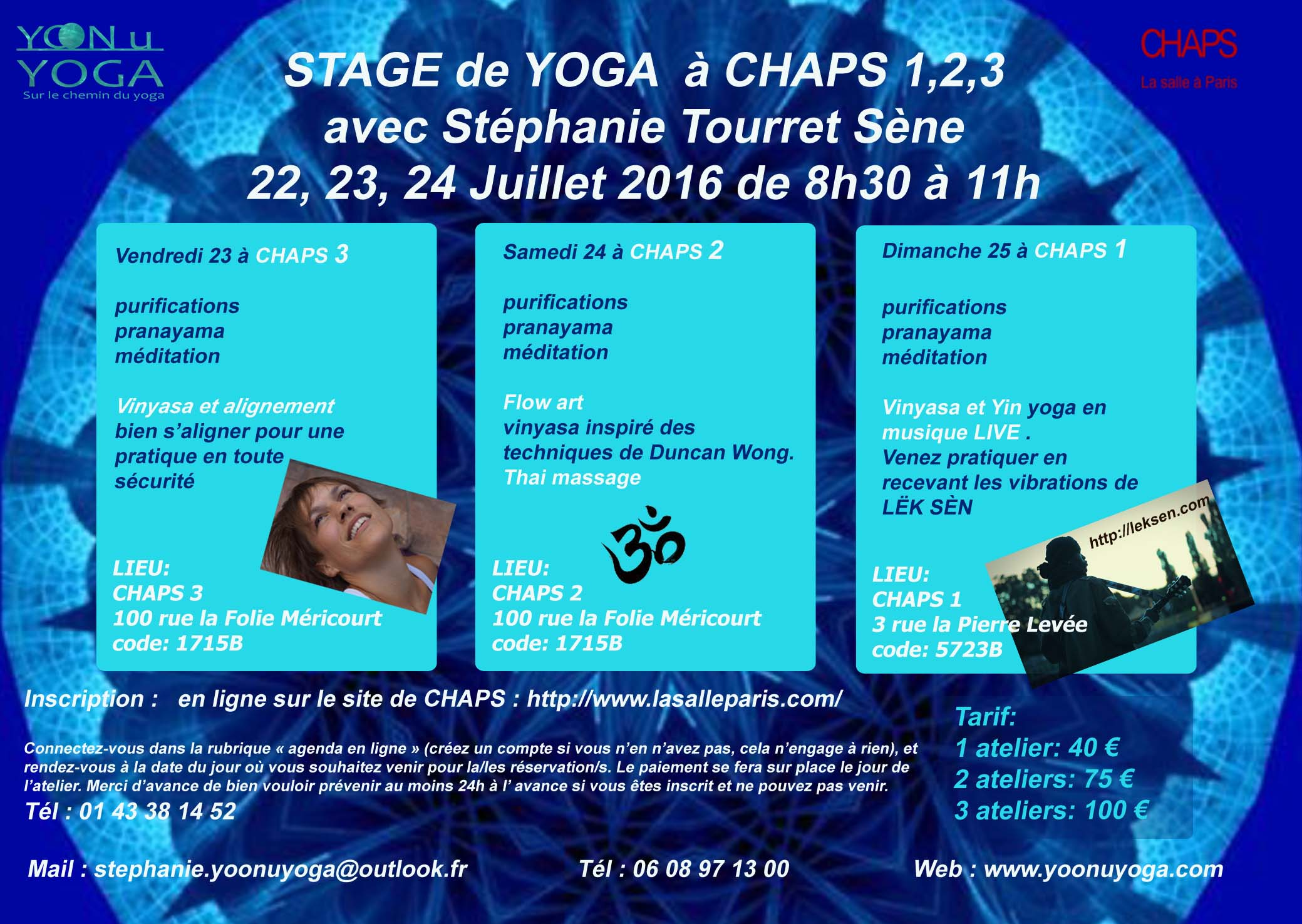Flyer stage juillet 2106