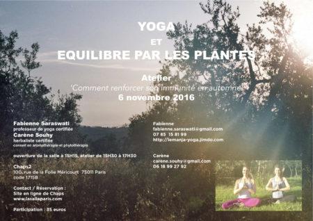 flyer Atelier Yoga avec fabienne nov 16