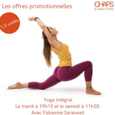 Promo : Yoga Intégral (1,5 unités)